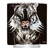 White Tiger 1 Shower Curtain