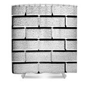 White Wall Shower Curtain
