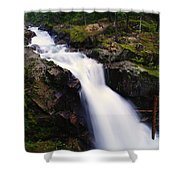 White Water Falling  Shower Curtain