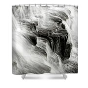 White Water Falls Shower Curtain