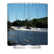 White Water On The West Branch Shower Curtain