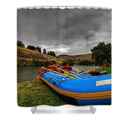 White Water Rafting Boat Shower Curtain