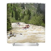 Animas River White Water Rafting The  Shower Curtain