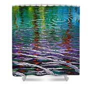 White Waves And Ripple Shower Curtain