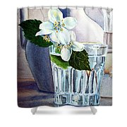 White White Jasmine  Shower Curtain