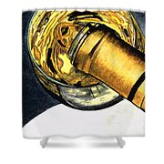 White Wine Art - Lap Of Luxury - By Sharon Cummings Shower Curtain