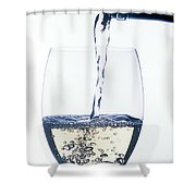 White Wine Pouring Shower Curtain