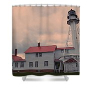 Whitefish Point Light Shower Curtain