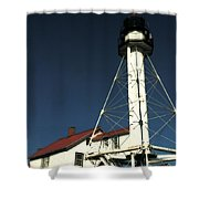 Whitefish Point Light Station Shower Curtain