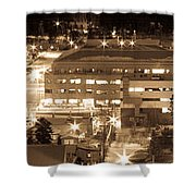 Whitehorse Downtown At Night Shower Curtain