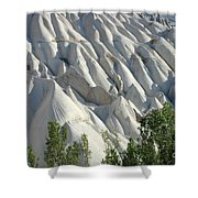 Whitewashed Rock From A Hot Air Balloon Shower Curtain