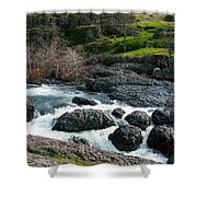 Whitewater At Bear Hole Shower Curtain