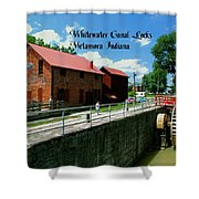 Whitewater Canal Locks Shower Curtain