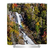Whitewater Falls With Rainbow Shower Curtain