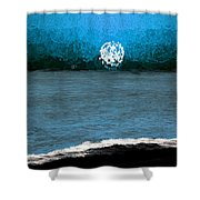Whitewater In The Moonlight Shower Curtain