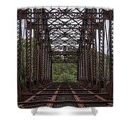 Whitford Railway Truss Bridge Shower Curtain