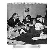 Whitney & Co. Investigation Shower Curtain