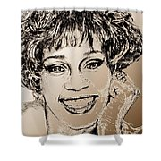 Whitney Houston In 1992 Shower Curtain