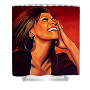Whitney Houston Shower Curtain
