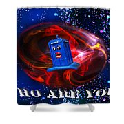 Who Are You  Shower Curtain by Rob Hawkins