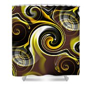 Who Dat Black And Gold Shower Curtain