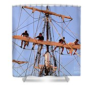 Who Was That Mast Man Shower Curtain