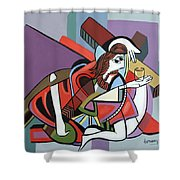 Who Will Take This Cup Shower Curtain by Anthony Falbo