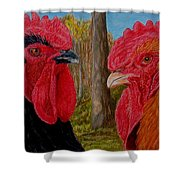 Who You Calling Chicken Shower Curtain