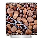 Whole Nuts In A Basket Shower Curtain