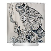 Whooo Are You Shower Curtain