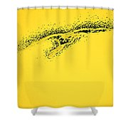 Whooper Swan Yellow Abstract Shower Curtain