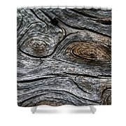 Whorls Of Wood Shower Curtain