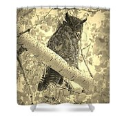 Who's Watching - Sepia Shower Curtain