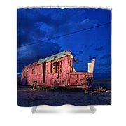 Why Pink Airstream Travel Trailer Shower Curtain