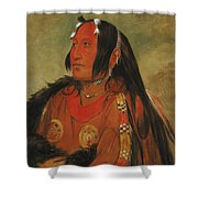 Wi-jun-jon. Pigeons Egg Head. A Distinguished Young Warrior Shower Curtain
