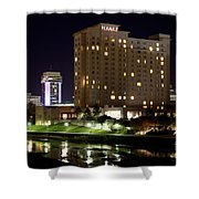Wichita Hyatt Along The Arkansas River Shower Curtain
