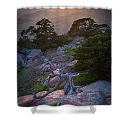 Wichita Mountains Sunset Shower Curtain