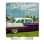 Wicked 1955 Chevy Profile Shower Curtain