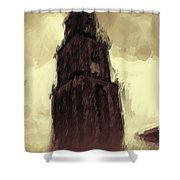 Wicked Tower Shower Curtain by Ayse Deniz