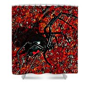 Wicked Widow - Rouge Shower Curtain