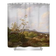 Wide Landscape With Shepherds Shower Curtain