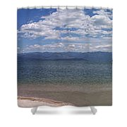 Wide Pan At Sandpoint Shower Curtain