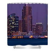 Wide Panoramic Of Scenic San Diego Shower Curtain