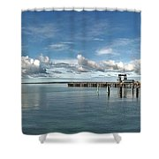 Wide View Of Kingscote Bay Shower Curtain