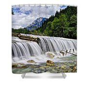 Wide Waterfall Shower Curtain