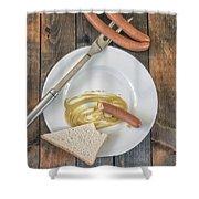 Wieners Shower Curtain by Joana Kruse