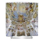 Wieskirche Organ And Ceiling Shower Curtain