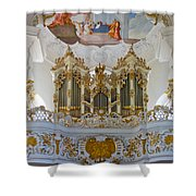 Wieskirche Pipe Organ Shower Curtain