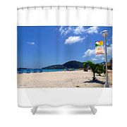 Wifi In Paradise - Hotspot Redefined Shower Curtain