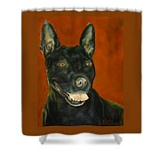 Wiggles, Dog Shower Curtain